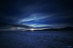 Windy moonrise over the black rock desert last night
