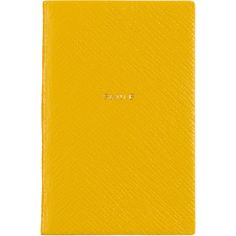 Smythson 'Smile' Wafer Notebook (60 CHF) ❤ liked on Polyvore featuring home, home decor, stationery, notebook and yellow