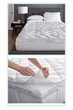Wamsutta Double Support Technology Twin Fiberbed In White - Increase your sleeping comfort level with the soft performance of the Wamsutta Double Support Technology Fiberbed. With 2 layers, the pad protects your mattress while letting you get a good night's rest. Snap closure keeps layers from shifting. #BakingSodaAtHome #BakingPowderForCleaning Baking Soda For Cooking, Baking Powder For Cleaning, What Is Baking Soda, Baking Soda For Skin, Baking Soda Beauty Uses, Baking Powder Uses, Baking Soda Health, Arm And Hammer Baking Soda, Baking Soda On Carpet