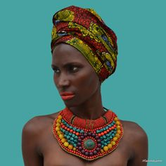 allopaola:  Ania Charlot for Fanm Djanm. Fanm Djanm means Strong Woman. It's a movement to celebrate the strength of women around the world. Headwrap and necklace now available on the site: http://fanmdjanm.com Photo credit: http://findingpaola.com