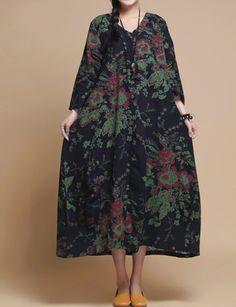 Women Loose fitting Long robe/ Long Maxi Dress/ Women por MaLieb