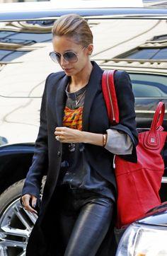 Nicole Richie - Rock Chic ( Metallic Sunglasses & Blazers )