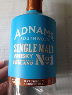 Adnams Single Malt - their first attempt and one that got a thumbs up.