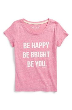 Miss Me 'Be Happy' Graphic Tee (Big Girls) available at #Nordstrom