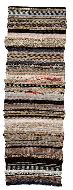 bits + pieces [in full]. handwoven rug. 2.5' x 7'. woven at penland school of crafts. 2012. instructor michael rohde.