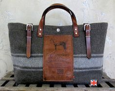 Graphically Inspired Equestrian Tote Bags by Bravura on Etsy