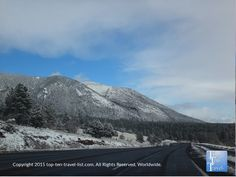 Gorgeous views driving around #Flagstaff, Arizona after a #winter storm. The snow capped mountains are beautiful!