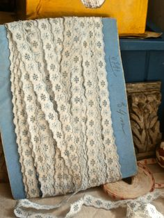 Antique Lace Vintage Trim Broderie Anglaise French by BrocanteArt, £6.50
