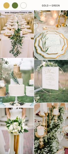 Gold and green wedding color ideas