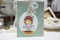 "Made by Cindy Hoesel for Quick Creations, CC Designs ""Tulip"" Pollycraft, card"