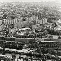 Kaiser-Friedrich-Ufer (vorn) und Grindelhochhäuser, Hamburg, 1959