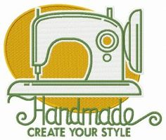 Handmade Create your style 5 machine embroidery design. Machine embroidery design. www.embroideres.com