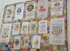 Image detail for -Vintage flour sack quilt