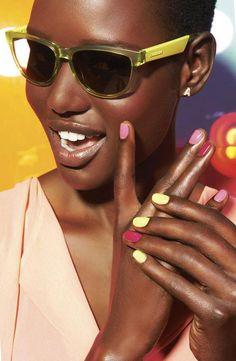 Spring nails, hello yellow! nails, nail art, nail trends, spring, summer manicures, nail polish.