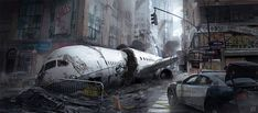 Discover the Art of Florian De Gesincourt, a French Freelance Environment Concept artist who recently worked on Tom Clancy: The Divison. Art Apocalypse, Apocalypse Aesthetic, Apocalypse World, Apocalypse Survival, Survival Gear, Survival Backpack, Survival Quotes, Photoshop Tutorial, Photoshop Actions
