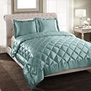 Make your bed with this Patti LaBelle three-piece satin comforter set, and give your bedroom an elegant, regal look. Available in Aruba blue and coffee, this shiny, sumptuous set features diamond-quilt stitching and flanged pillow shams. Home Decor Bedroom, Master Bedroom, Satin Bedding, King Comforter Sets, Quilt Stitching, Make Your Bed, Duvet Insert, Pillow Shams, Decorating Your Home