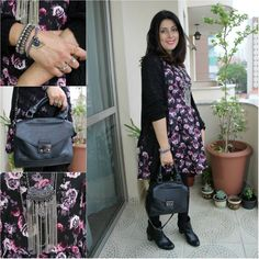 Maxi tricô e vestido florido. flowered dress and maxi knitting. http://www.elropero.com/2014/10/fashion-set-maxi-trico-vestido-florido.html