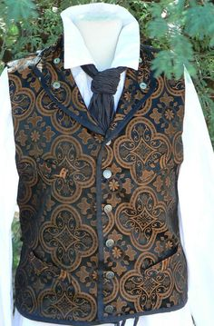 Victorian Men's Steampunk Brocade Vest Cross by ItsNotPajamas, $98.00