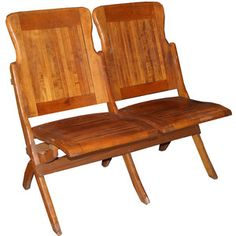 Double-Seat Folding Chairs now featured on Fab. $225...wonder how much for a Triple???