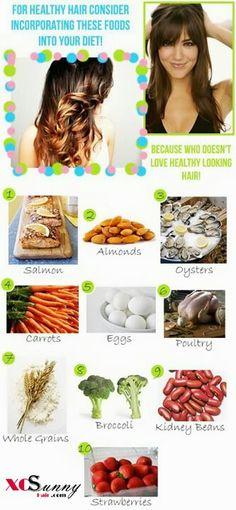 Hair foods
