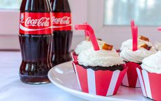 Coca Cola Cupcakes Coca Cola Cupcakes, Muffins, Drinks, Bottle, Desserts, Food, Drinking, Tailgate Desserts, Muffin