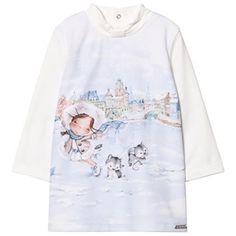 Off-white Girl Print Dress