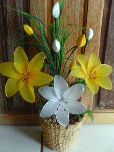Magia da Arte: Flores de meia