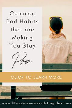 When you're poor, it means that the chances of you living the life you want are extremely slim. Even worse, poverty lasts for generations. If you're poor, you will not have the opportunity to leave a legacy to your children. Here are some common habits that might actually be keeping you poor.