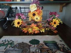 Artificial flower fall centrepiece