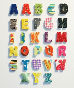 DIY Magnetic Alphabet--cute, but are you thinking what I'm thinking? Why the heck are there 2 A's and E's?