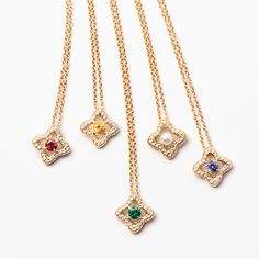 The perfect graduation gift from David Yurman - a delicate Venetian Quatrefoil necklace with her birthstone Stone Jewelry, Pendant Jewelry, Diamond Jewelry, Photo Jewelry, Fashion Jewelry, Women Jewelry, E Commerce, Jewelry Design Drawing, Dainty Bracelets