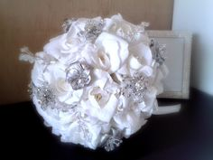 """Bouquet gioiello """"White and grey"""" Coconut Flakes, Bouquet, Pasta, Rose, Pink, Roses, Bouquets, Noodles, Pink Roses"""