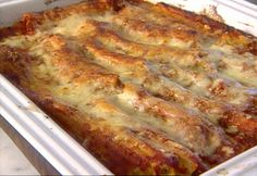 Beef and Cheese Manicotti from FoodNetwork.com... made this today and this is a keeper.. Yummy!!