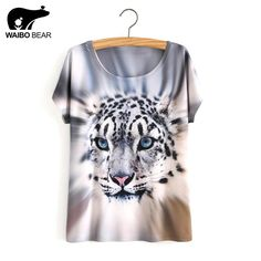 Summer Style White Tiger 3D Print T-Shirt Women Summer Clothes 2017 Round Collar Women T Shirt Female Tops  #me #men #mensfashion #women #fashionweek #photooftheday #gift #belts #sexyshoes #sunshades #baby #selfie #graduation #accessories #gloves