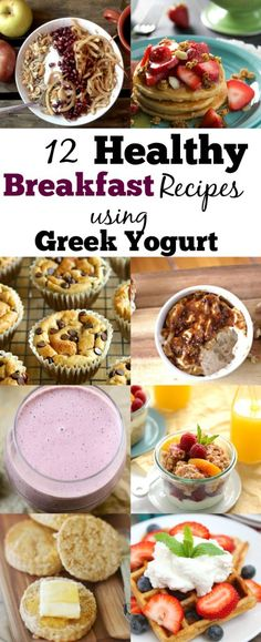 You will enjoy the awesome benefits of greek yogurt in a delicious filling and healthy breakfast with these 12 Healthy Greek Yogurt Breakfast Recipes! Healthy Eating Recipes, Healthy Breakfast Recipes, Brunch Recipes, Healthy Breakfasts, Breakfast Crockpot, Breakfast Ideas, Healthy Food, Healthy Protein, Brunch Ideas