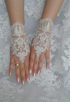 wedding gloves lace glove wedding gold lace gloves by WEDDINGHome, $30.00