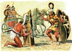 Mycenaean warriors.
