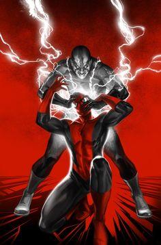 Spiderman vs Electro - Marko Djurdjevic