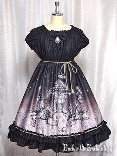 Chantilly Phantom Night Babydoll lolita one piece dress black
