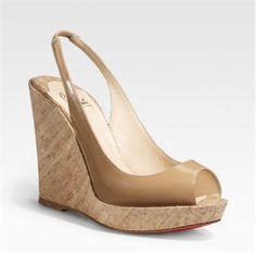 cork peep toe wedges