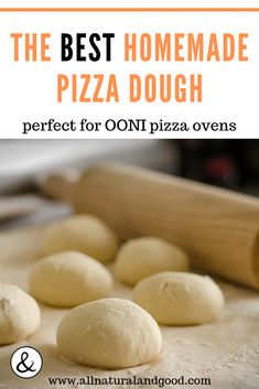 OONI Pizza Oven Dough Recipe - Homemade OONI (UUNI) pizza oven pizza dough recipe for wood-fired and authentic Neapolitan style pi - Wood Fired Pizza Crust Recipe, Home Made Pizza Dough Recipe, Neapolitan Pizza Dough Recipe, Pizza Dough Recipe For Brick Oven, Wood Oven Pizza, Pizza Ovens, Making Homemade Pizza, Oven Recipes, Pizza Recipes