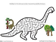 Dinosaurs Preschool, Dinosaur Activities, Dinosaur Crafts, Dinosaur Fossils, Preschool Learning Activities, Dinosaur Party, Dinosaur Birthday, Mazes For Kids, Happy Party