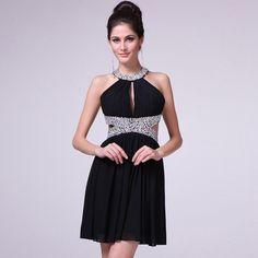 >> Click to Buy << Chiffon Fabric Halter See Through Beads with Sequins Short Prom Dresses Vestidos De Novia #Affiliate