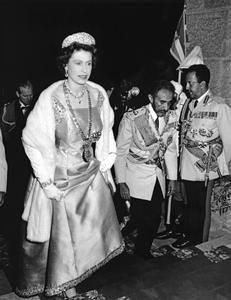 The Queen with Emperor Haile Selassie, Addis Ababa, 1965