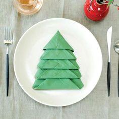 Serviet som juletræ