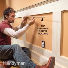 Wainscoting Bedroom How To Build horizontal wainscoting bathroom.Faux Wainscoting Board And Batten. Wainscoting Styles, Painted Wainscoting, Black Wainscoting, Wainscoting Panels, Dining Room Wainscoting, Wainscoting Nursery, Wall Molding, Moulding, Molding Ideas
