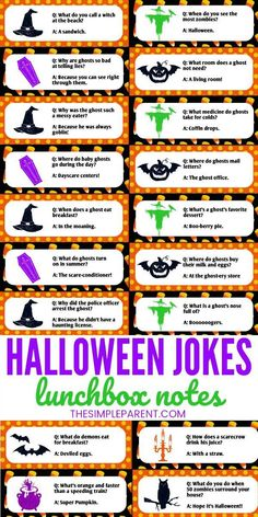 Halloween Jokes for Kids That Will Have Them Rolling Halloween Jokes for Kids are a fun way to get everyone laughing! From hilarious and funny to cheesy, corny and cute, your kids will love them all! Use them as lunch box jokes with this FREE printable!