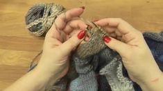 Škola pletení, Entrelac - vychytávka, Knitting Entrelac