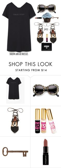 """""""Easy Peasy: Throw -and- Go Dresses!"""" by prettynposh2 ❤ liked on Polyvore featuring MANGO, ZeroUV, Steve Madden, Juicy Couture, Jayson Home, Smashbox, Givenchy, easypeasy and throw"""