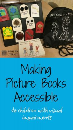 Use a story box, picture and tactile symbols to make picture books accessible to children with visual impairments and additional disabilities.